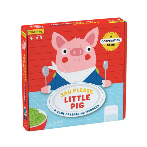 BOARD GAME SAY PLEASE LITTLE PIG
