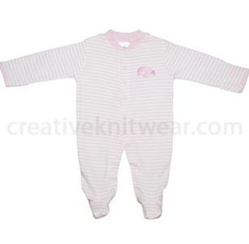 HAWKEYE FOOTED ROMPER PINK / WHITE