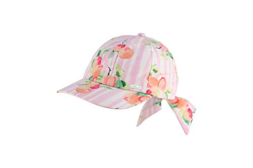 MILLYMOOK GIRLS BOW CAP PEACHY PEACH