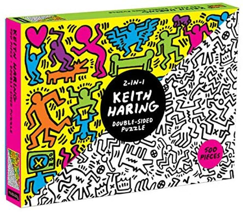 DOUBLE SIDED 500 PIECE PUZZLE KEITH HARING