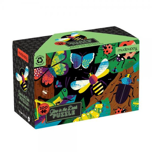 AMAZING INSECTS GLOW IN THE DARK PUZZLE 100 PC