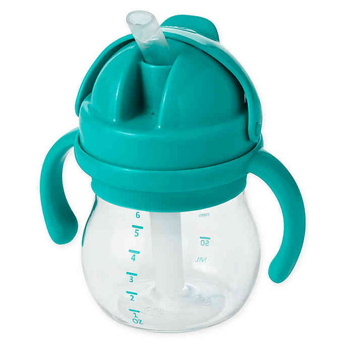 OXO TOT SOFT STRAW CUP 6OZ TEAL