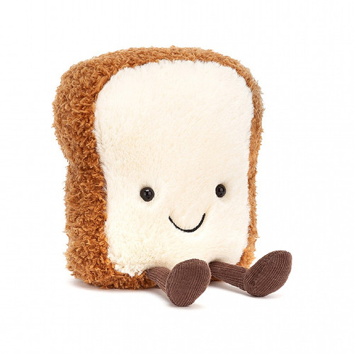 Wakey-wakey! It's Amuseable Toast! Adorably goofy and kawaii, this squishable silly loves to loaf around! Freshly baked, with a fluffy white tummy and golden-brown crust, Amuseable Toast also has neat cordy feet.