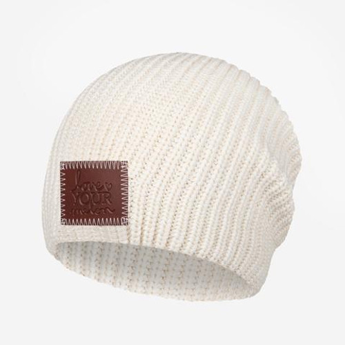 Kid's White Speckled Beanie