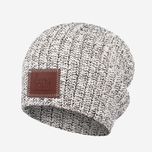Kid's Black Speckled Beanie