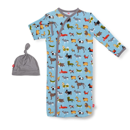 MAGNETIC ME SEA THE WORLD MODAL MAGNETIC SACK GOWN & HAT SET