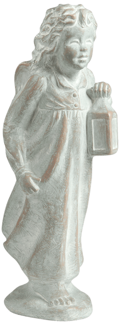ISABEL BLOOM ANGEL GUIDING LIGHT WEATHERED BRONZE ST