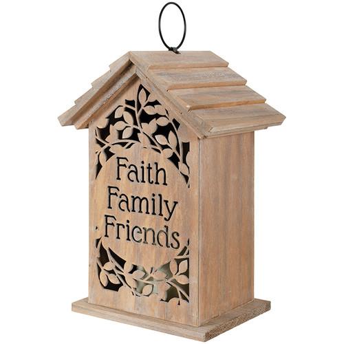 LANTERN CUTOUT FAITH FAMILY FRIE