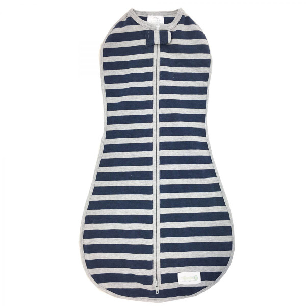 WOOMBIE NAVY & GRAY STRIPE NEWBORN