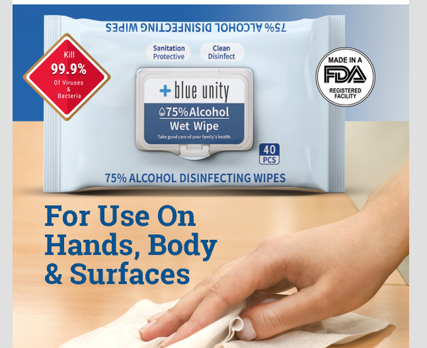 Disinfecting Alcohol Wipes 75%