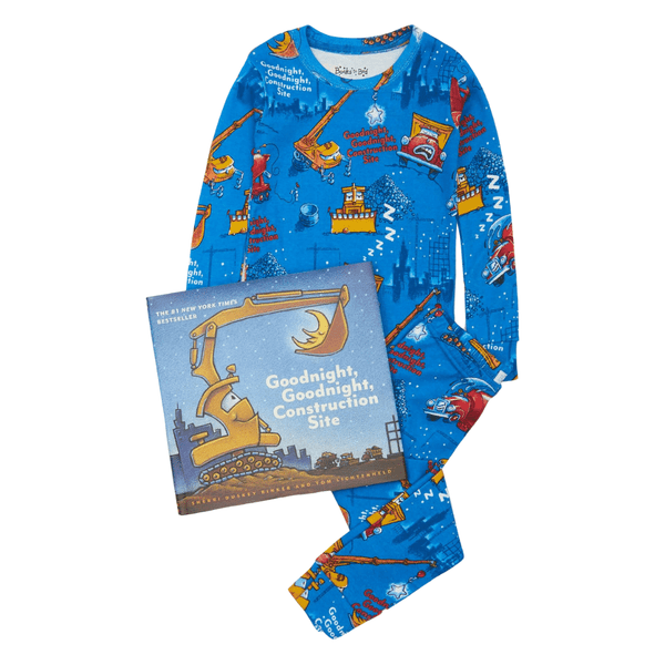 BOOKS TO BED PAJAMA SET GOODNIGHT CONSTRUCTION SITE