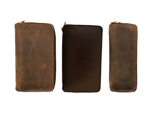 Lock Pick Leather Zipper Pouches