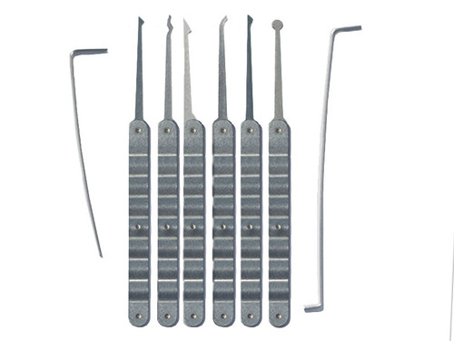8 Piece Laminated Ripple Handle Lock Pick Set (LRH-8)