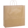 HANDLED SHOPPING BAGS, 16 x 6 x 12, RECYCLED NATURAL, 250/case