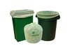 Compostable Trash Bag, 13 Gallon, 23.5 x 29, .8 Mil, Green, 250/case