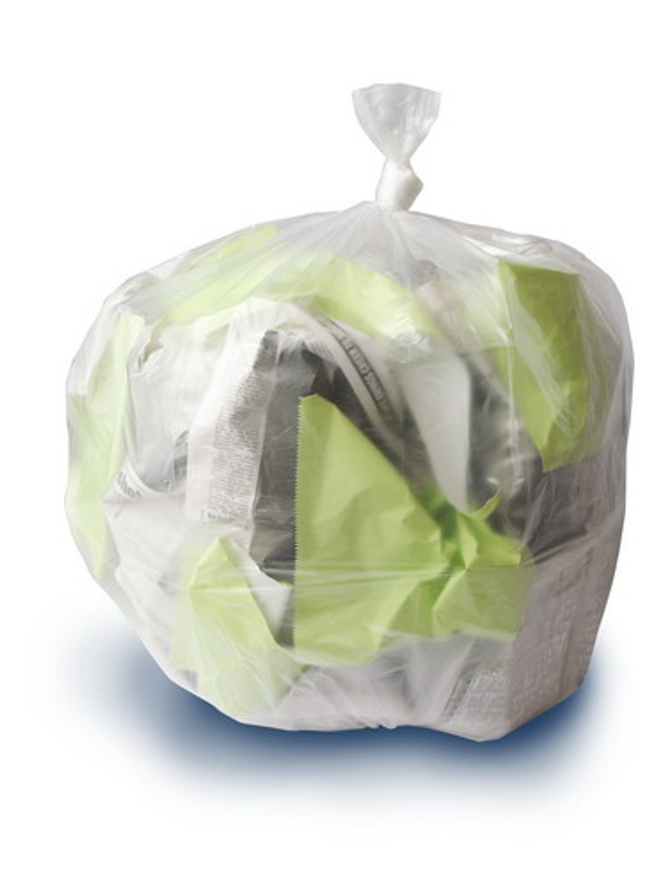 40 x 48 Trash Can Liners Natural 250//case 16 Micron 45 Gallon