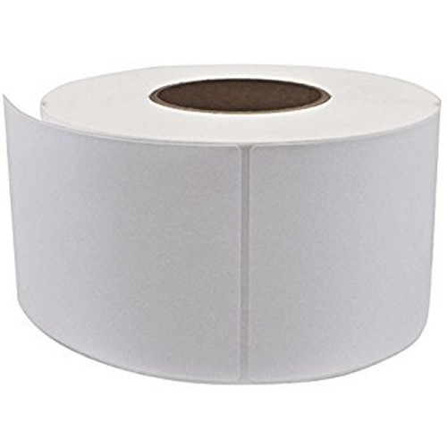 """Thermal Transfer Labels, 5"""" OD 1"""" ID Cores, 3 x 3, White, 3400/Case"""