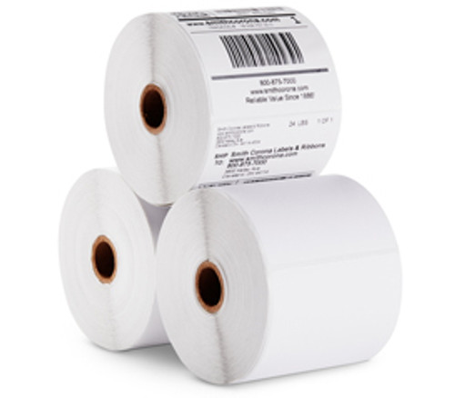 """Direct Thermal Labels, Rolled - Perfed 4"""" OD 1"""" ID Cores, 4 x 6, White, 1000/Case"""