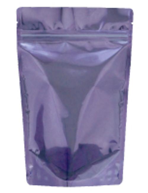 "Dual Shield Stand Up Zip Pouches, 4"" x 6 1/2"" + 2 3/8"", 2oz, Lavender, 2000/Case"