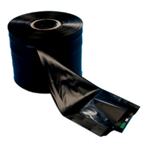 Conductive Poly Tubing, 4 Mil, 4in x 750ft, Black, 1 roll