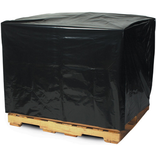 UVI Protective Pallet Top Covers, 50 x 42 x 69, 2 Mil, Black, 65/Case