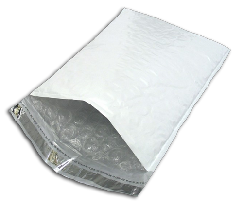 Self-Sealing Poly Bubble Mailers, 8 1/2 x 11, White, 160/case