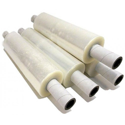 Stretch Film on Extended Cores, 20in X 1000ft, 80 Gauge, Clear, 4 Rolls per Pack