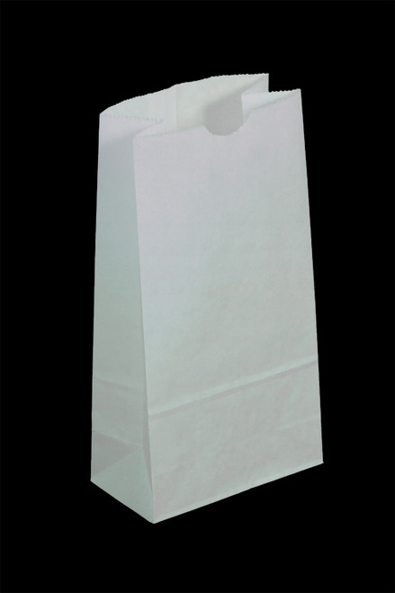 #16 Colored Lunch Bag, 7 11/16 x 4 7/8 x 16 1/16, White, 500/case