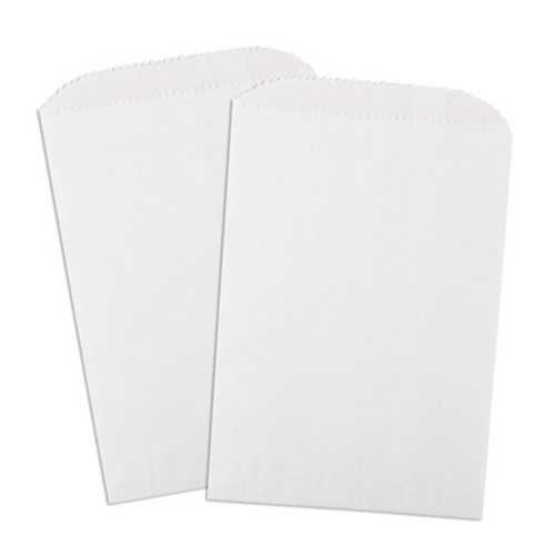 Wax Lined Glassine Gourmet Bag, 5.75 x 7.5, White, 1000/case