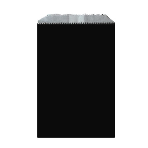 Wax Lined Glassine Gourmet Bag, 6.75 x 9.25, Black, 1000/case