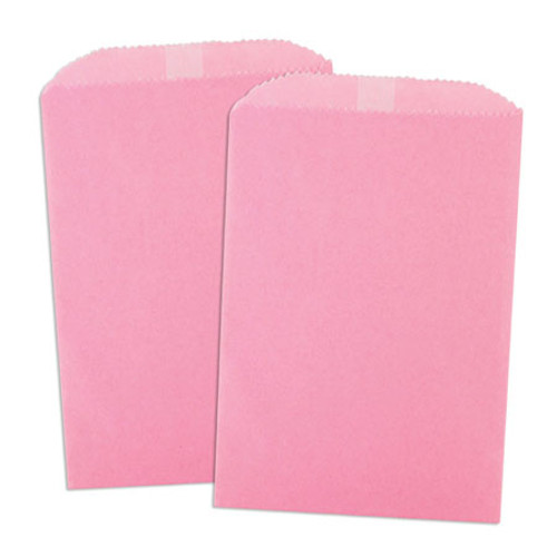 Wax Lined Glassine Gourmet Bag, 6.75 x 9.25, Pink, 1000/case
