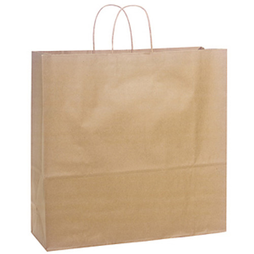 HANDLED SHOPPING BAGS, 5 1/2 x 3 1/4 x 8 3/8, RECYCLED NATURAL, 250/case
