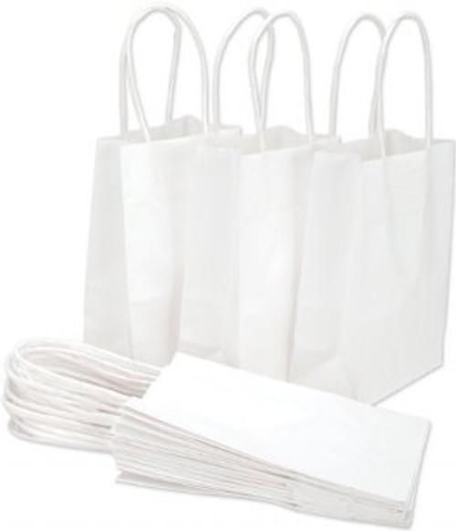 HANDLED SHOPPING BAGS, 10 x 5 x 13, WHITE, 250/case