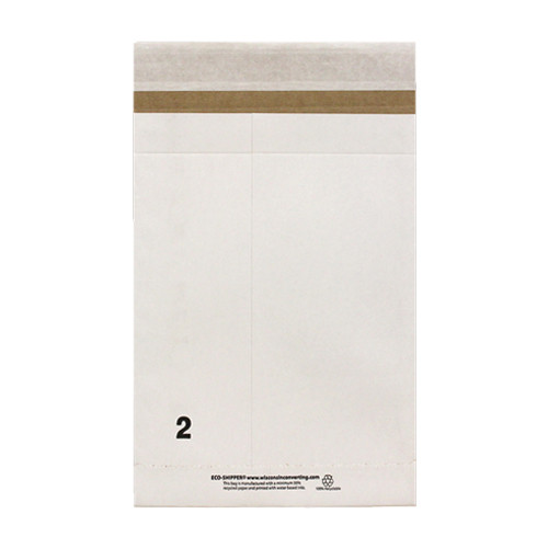 8-1/2 x 3-1/4 x 14-1/2  Eco-Shipper with Peel and Seal Closure, White, 250/Case