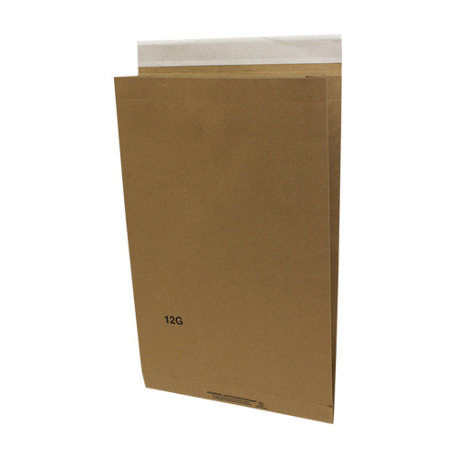10-1/2 x 3-3/4 x 19 Recycled Natural Eco-Shipper with Peel and Seal Closure, Kraft, 200/Case