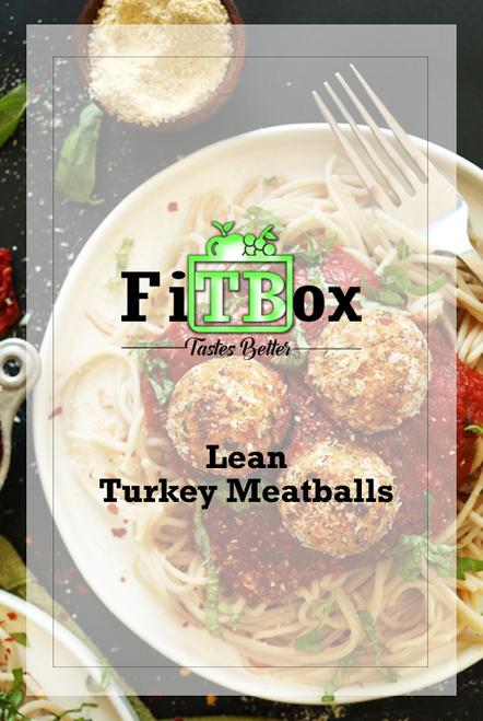 Lean Turkey Meatballs in Tomato Basil Sauce and Whole Grain Pasta
