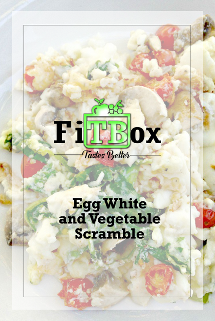 Egg White and Vegetable Scramble w/ Whole Grain Toast and Turkey Bacon