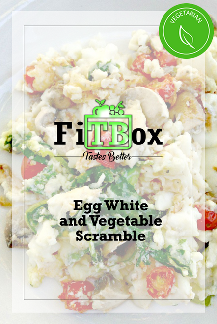 - VEGETARIAN - Egg White and Vegetable Scramble w/ Whole Grain Toast