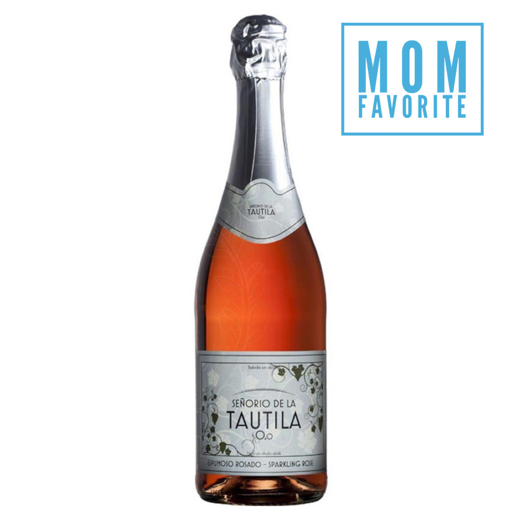 Tautila Espumoso Rosado Alcohol Free Sparkling Rose Wine Mom Favorite