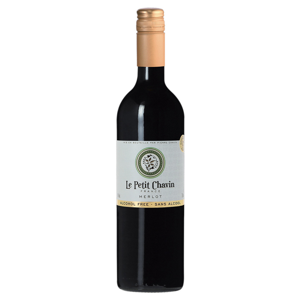 Le Petit Chavin Merlot Non-Alcoholic Red Wine 750ml