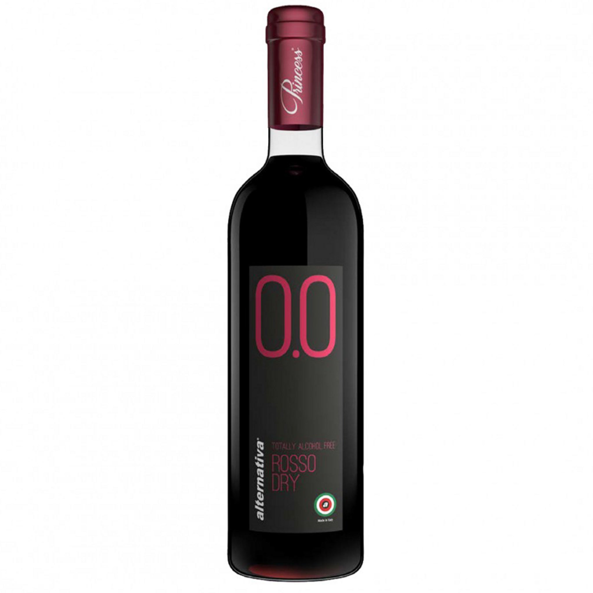 Princess Rosso Dry Alcohol Free Red Wine 750ml