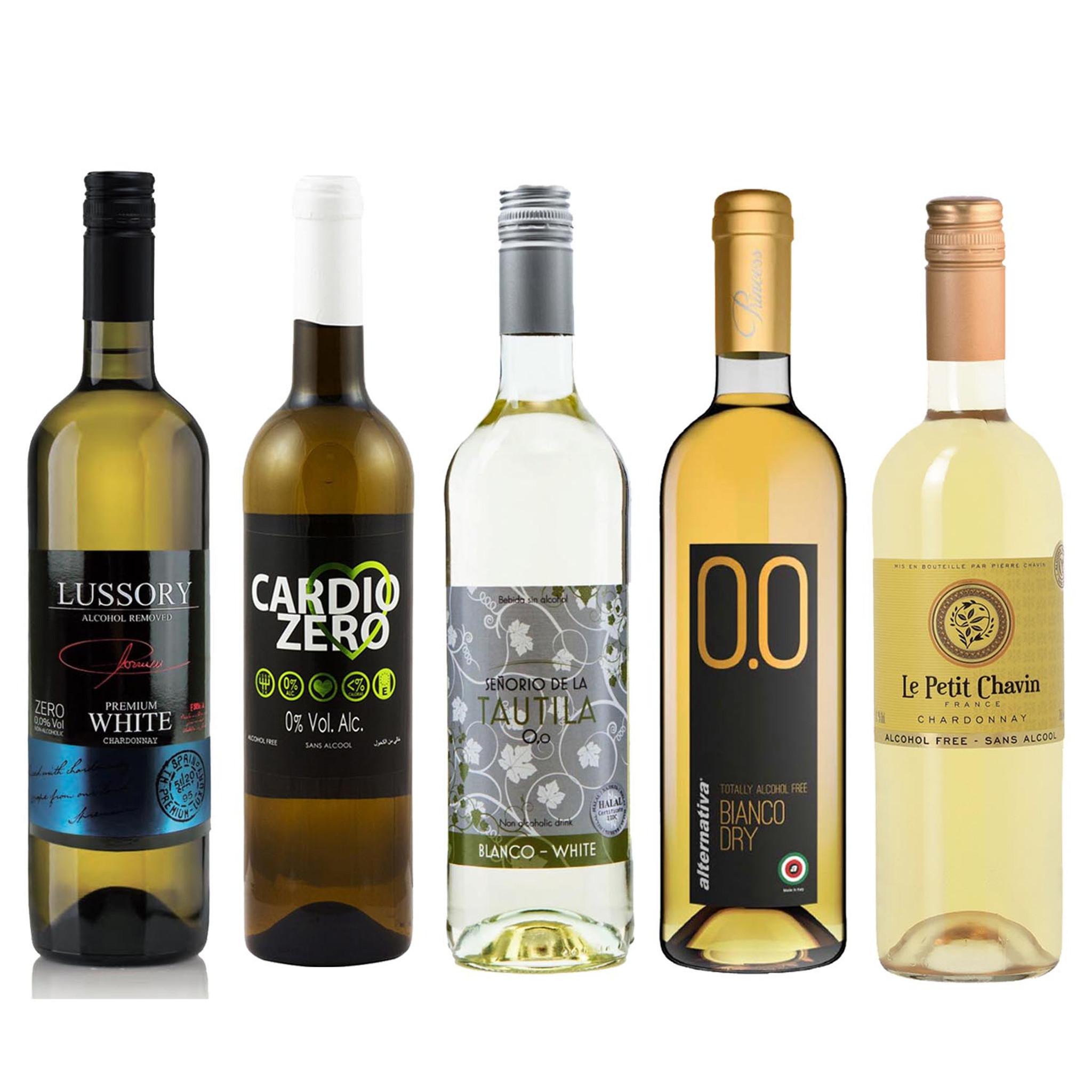 Alcohol Free White Wine Sampler 750ml Each