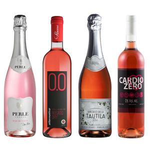 Wines for Mothers Non-Alcoholic Rose Sampler (4 Bottles)