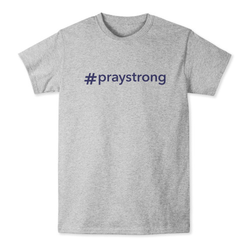 #PrayStrong Gray T-Shirt
