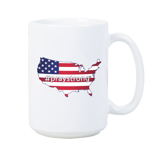 USA Flag #PrayStrong Mug