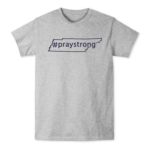 state shirt, apparel, praystrong community shirt, grey tennessee t-shirt,