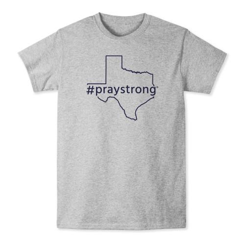 state shirt, apparel, praystrong community shirt, grey texas t-shirt,