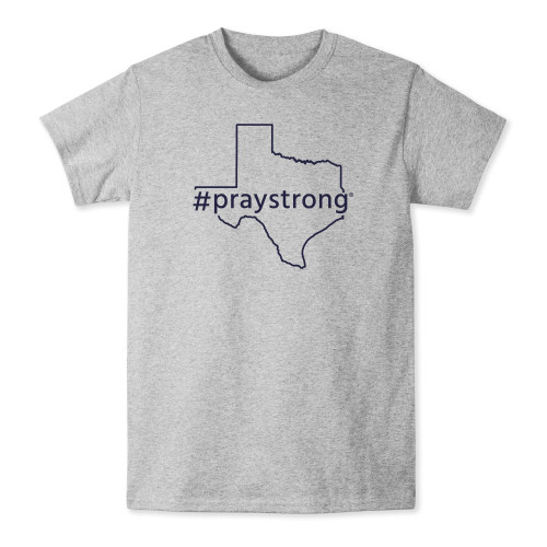 state shirt, apparel, praystrong community shirt, grey texas t-shirt,