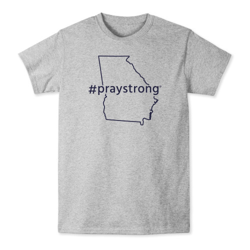 praystrong, pray, strong, state, shirt, t shirt, t-shirt, grey, navy, georgia