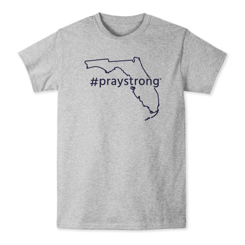 state shirt, apparel, praystrong community shirt, grey florida t-shirt,